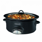 Crock-Pot Programmable 5 Qt, Slow Cooker, Black