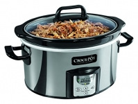 Crock-Pot Oval Programmable Slow Cooker, 4 Quart, Stainless
