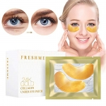 Crystal 24K Gold Collagen Eye Pads – 20 Pairs