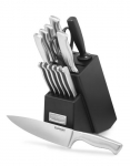 CUISINART 15 Piece Stainless Steel Hollow Handle Block Set, C77SS-15 Pack, Silver