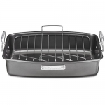 CUISINART 17-Inch X 13-Inch Non-Stick Roasting Pan with V-Rack
