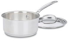 Cuisinart Chef's Classic Stainless 1-1/2-Quart Saucepan with Cover