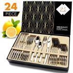Elegant Life 24 Piece Stainless Steel Flatware Set