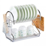 Decdeal Multi-Functional 2-Tier Dish Rack