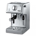 DeLonghi 15 Bar Espresso and Cappuccino Machine with Adjustable Advanced Cappuccino System, Stainless Steel