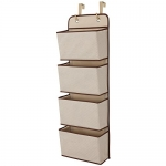 Delta Children 4 Pocket Hanging Organizer, Beige