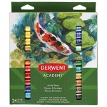 Derwent Academy Acrylic Paints, 12 ml Tubes, 24 Count