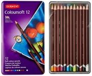 Derwent Colorsoft Pencils, 4mm Core, Metal Tin, 12 Count