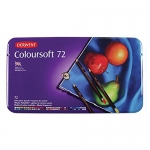 Derwent Colorsoft Pencils, 4mm Core, Metal Tin, 72 Count