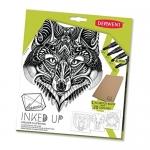 Derwent Graphik Line Makers Inked up Set, Includes 4 Line Maker Pens and Sketchbook with 20 Outlines