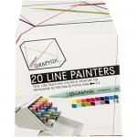 Derwent Graphik Line Painter Set, All 20 Graphik Line Painter Colors