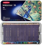 Derwent Inktense Pencils, 4mm Core, Metal Tin, Assorted Colors, 36 Count