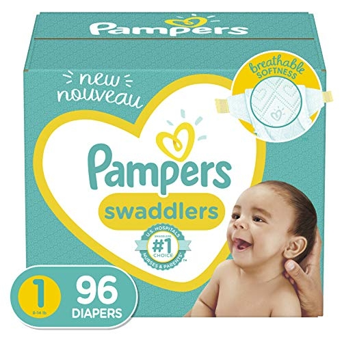 Pampers Swaddlers Diapers, Sizes N – 7