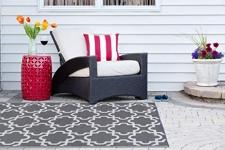 DII Moroccan Indoor/Outdoor Lightweight Reversible Fade Resistant Area Rug