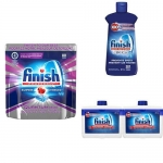 Dishwashing Pack: Dishwashing Tabs, Rinse-Aid, Dishwasher Cleaner