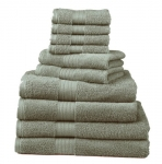 Divatex Home Fashions 10-Piece Deluxe Towel Sets