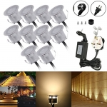 Docooler 10PCS 32mm Outdoor Waterproof LED Deck Light Kit