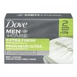 Dove Men+Care Extra Fresh Invigorating Formula Body & Face Bar 2x113g