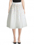 HBC Stripes Holiday Confetti Midi Skirt