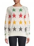 HBC x Color Me Courtney Women's Lurex Star Sweater