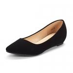 DREAM PAIRS Women's Jilian Low Wedge Flats Shoes
