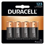 Duracell 123 High Power Lithium Batteries, 3V – 4 count