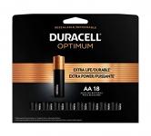 Duracell Optimum AA Alkaline Batteries, 18 count