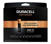 Duracell Optimum AAA Alkaline Batteries, 12ct
