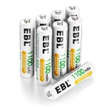EBL 8 Pack AAA High Capacity Rechargeable Batteries