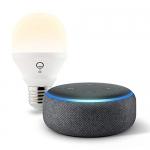 Echo Dot (3rd Gen) with FREE LIFX Bulb
