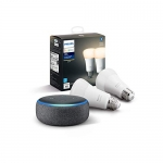 Echo Dot Charcoal with Philips Hue White 2-pack