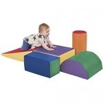 ECR4Kids SoftZone Climb and Crawl Play Set (5-Piece)