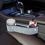 eing Car Seat Side Drop Organizer, Bling Car Seat Pockets with Cup Holder and 2 Charging Port