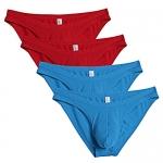 Ekouaer Men's Micromodal Low Rise Sexy Bikini Briefs 4 Pack