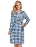 Ekouaer Womens Cotton Robe Soft Kimono Knit Bathrobe Loungewear