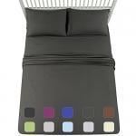 EMONIA 4 Pcs Sheet Set Soft Microfiber, Queen Size, Dark Grey
