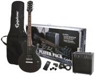 Epiphone Guitar Pack Series Electric Guitar Player Pack, Ebony
