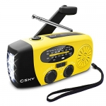 Esky Solar Hand Crank Self Powered Emergency FM/AM/NOAA Radio with LED Flashlight