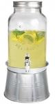 Estilo Glass Mason Jar Beverage Drink Dispenser with Ice Bucket Stand, Clear, 1.5 gallon