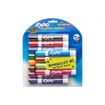 Expo Low Odor Chisel Tip Dry Erase Markers, 12 Colored Markers