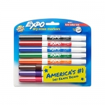 Expo Low Odour Dry Erase Pen-Style Markers, 8 Coloured Markers