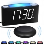 Extra Loud Alarm Clock with Bed Shaker
