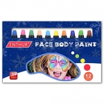 Face Paint Crayon 12 Color Face Painting Kit