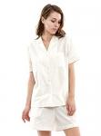 Femofit Pajamas Set for Women Cotton Short Sleeve Sleepwear