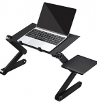 FEMOR Portable Adjustable Aluminum Laptop Table/Stand/Desk