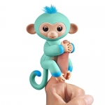 Fingerlings 2Tone Monkey – Eddie (Seafoam Green with Blue Accents) – Interactive Baby Pet – by WowWee