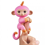 Fingerlings 2Tone Monkey – Summer (Pink with Orange Accents) – Interactive Baby Pet – by WowWee