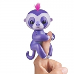 Fingerlings Baby Sloth – Marge (Purple) – Interactive Baby Pet – by WowWee