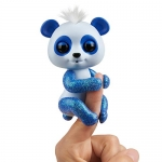 Fingerlings Glitter Panda – Archie (Blue) – Interactive Collectible Baby Pet – By WowWee