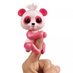 Fingerlings Glitter Panda – Polly (Pink) – Interactive Collectible Baby Pet – By WowWee